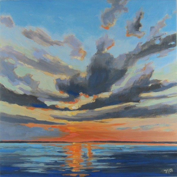 """Sun-Kissed Clouds"" original fine art by Nicki Ault"