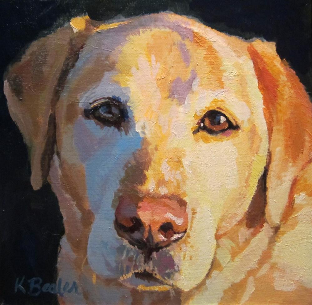 """Yellow Lab"" original fine art by Kaethe Bealer"