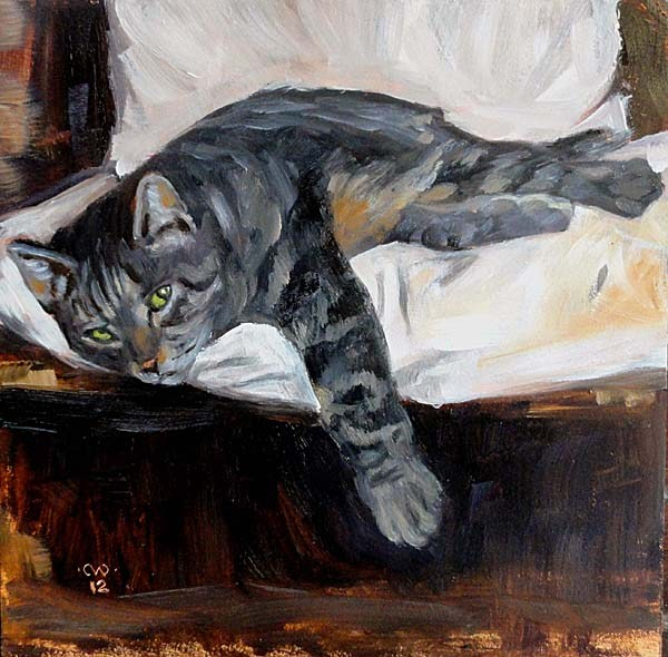 """Mini Mountain Lion"" original fine art by Cietha Wilson"