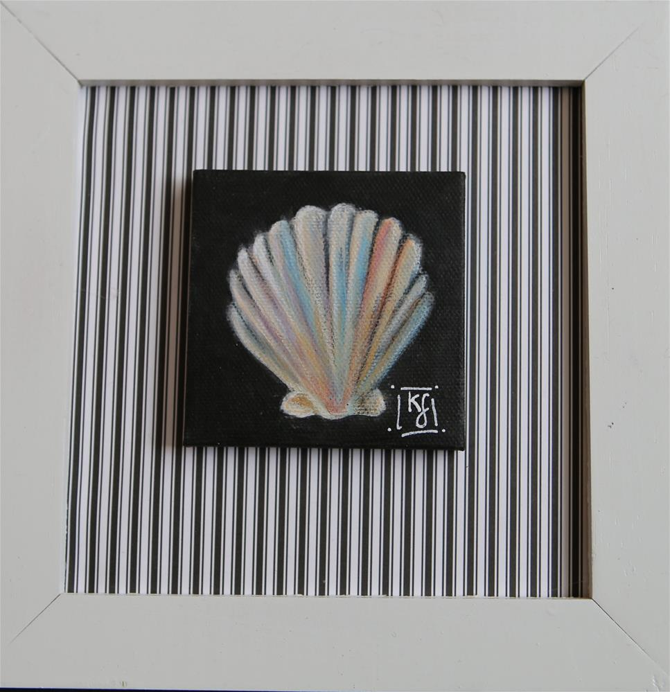 """Scallop Shell"" original fine art by Kathleen Straube"