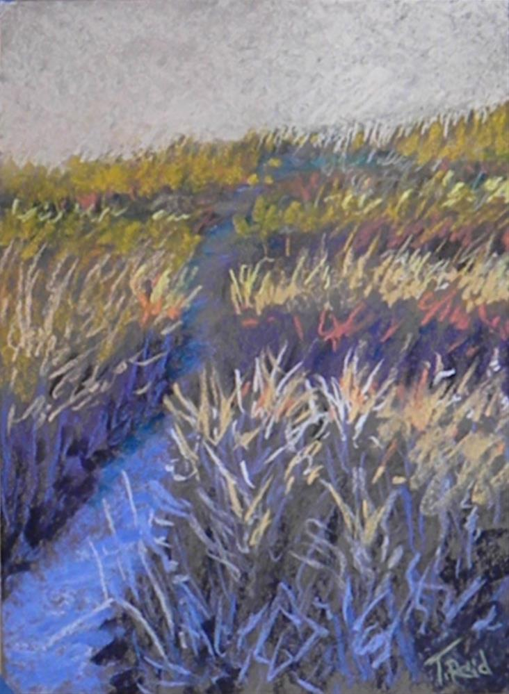 """Light on the trail"" original fine art by Toby Reid"