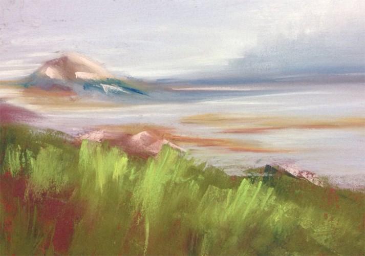 """""""Vinalhaven Fog"""" original fine art by Karen Vanderpool"""
