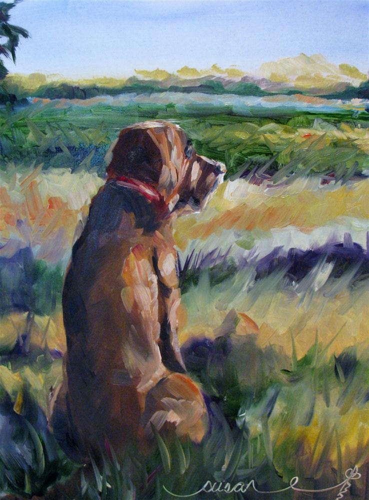 """He Be Comin' Home Soon"" original fine art by Susan Elizabeth Jones"