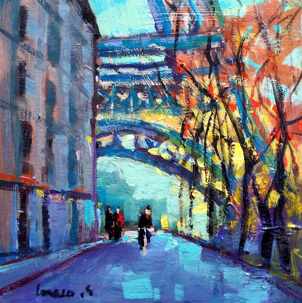 """""""RUE DE PARIStour effel"""" original fine art by salvatore greco"""