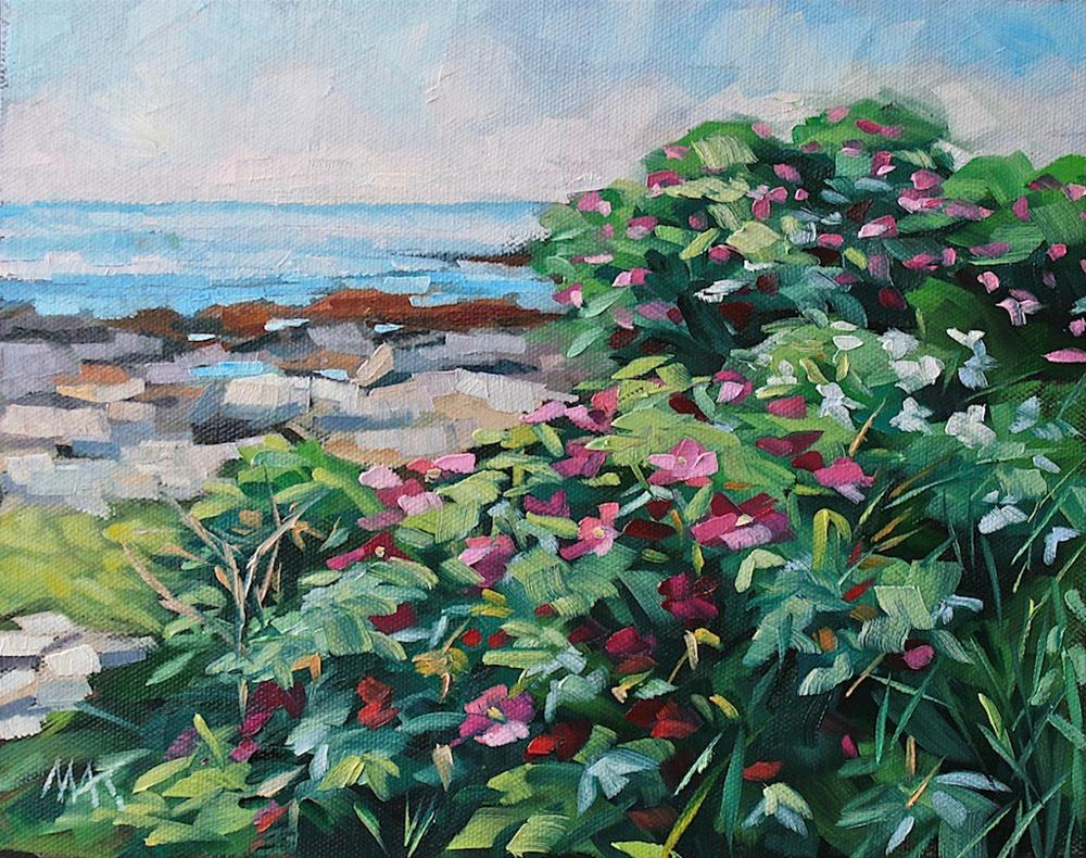 """Casco Bay Blooms"" original fine art by Mary Anne Cary"