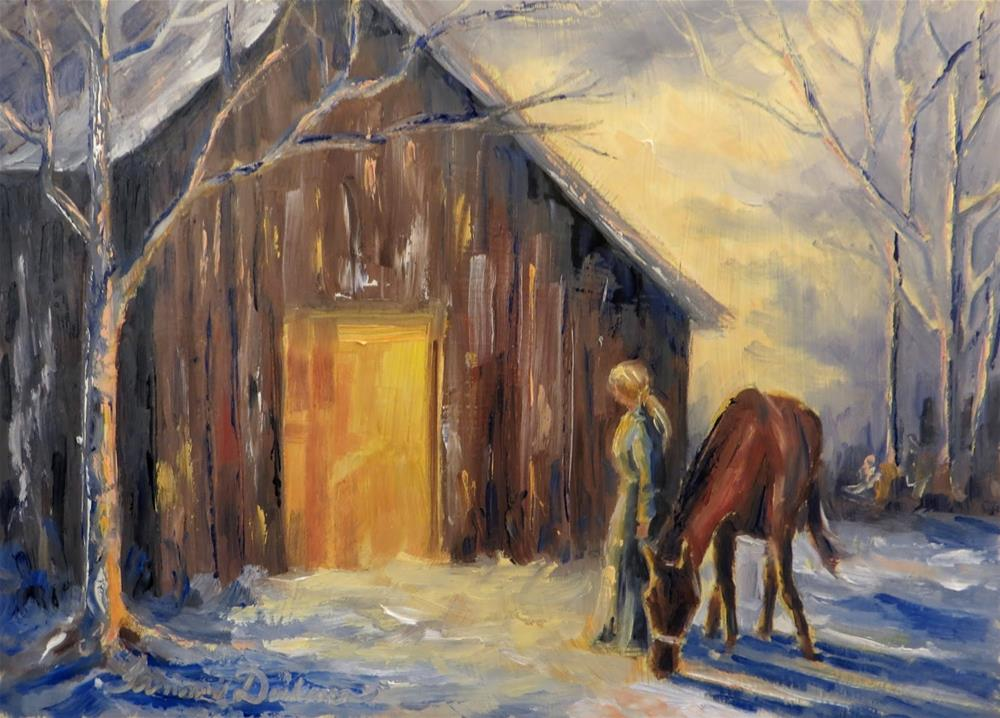 """Back to the Barn"" original fine art by Tammie Dickerson"
