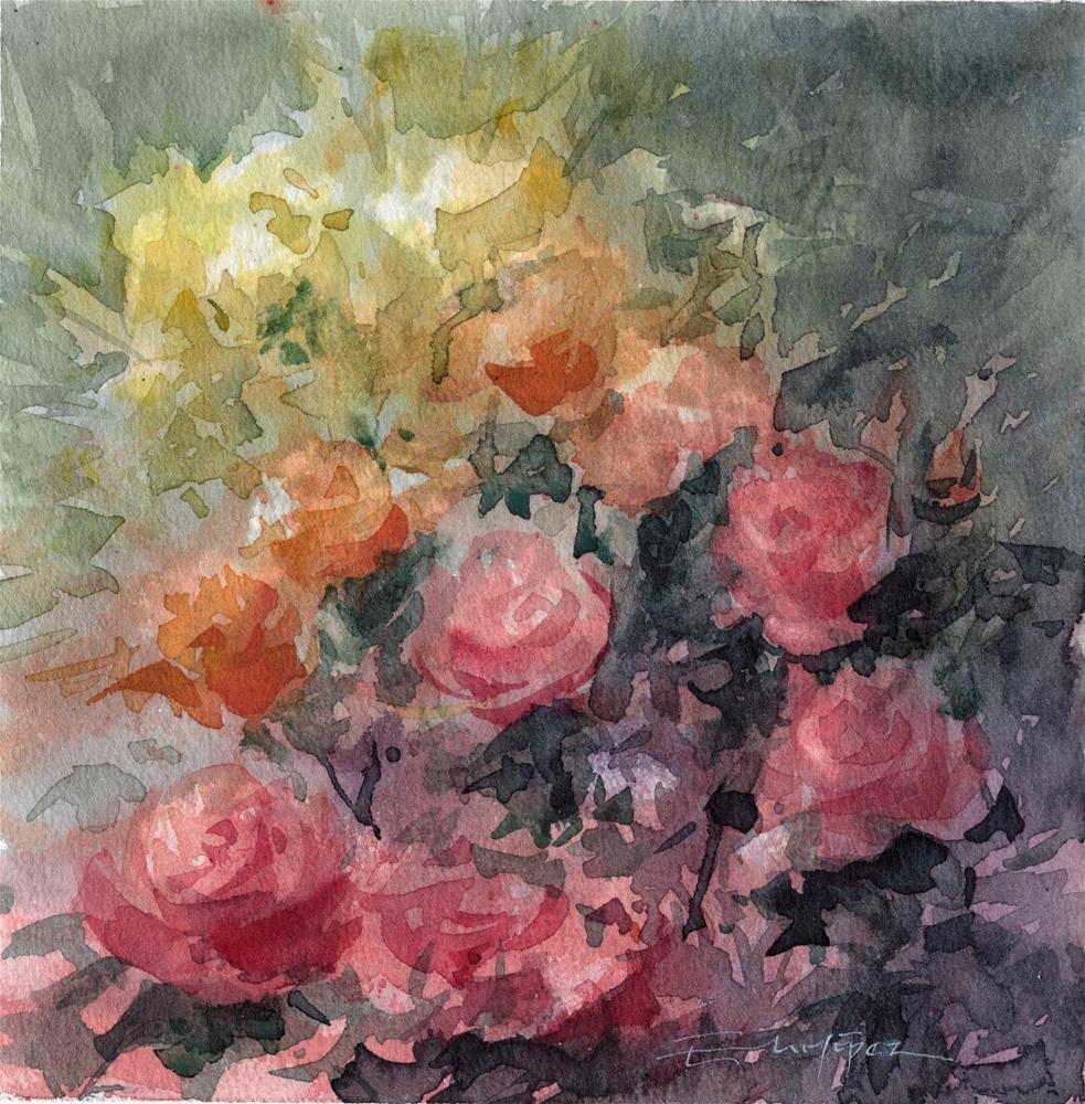 """""""flores 5"""" original fine art by Emilio López"""