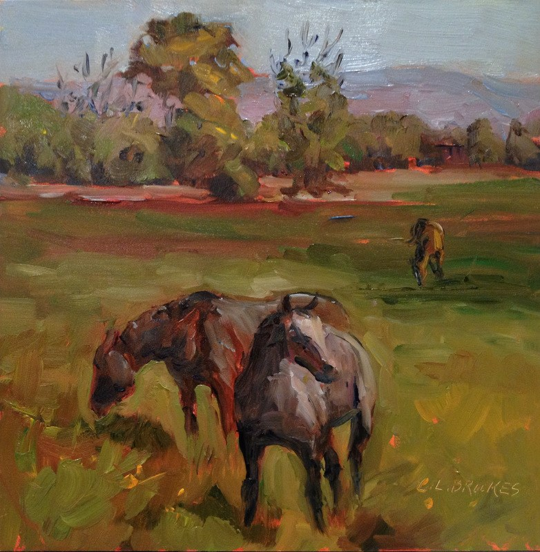 """Colorado Horses, Day 26"" original fine art by Claudia L Brookes"
