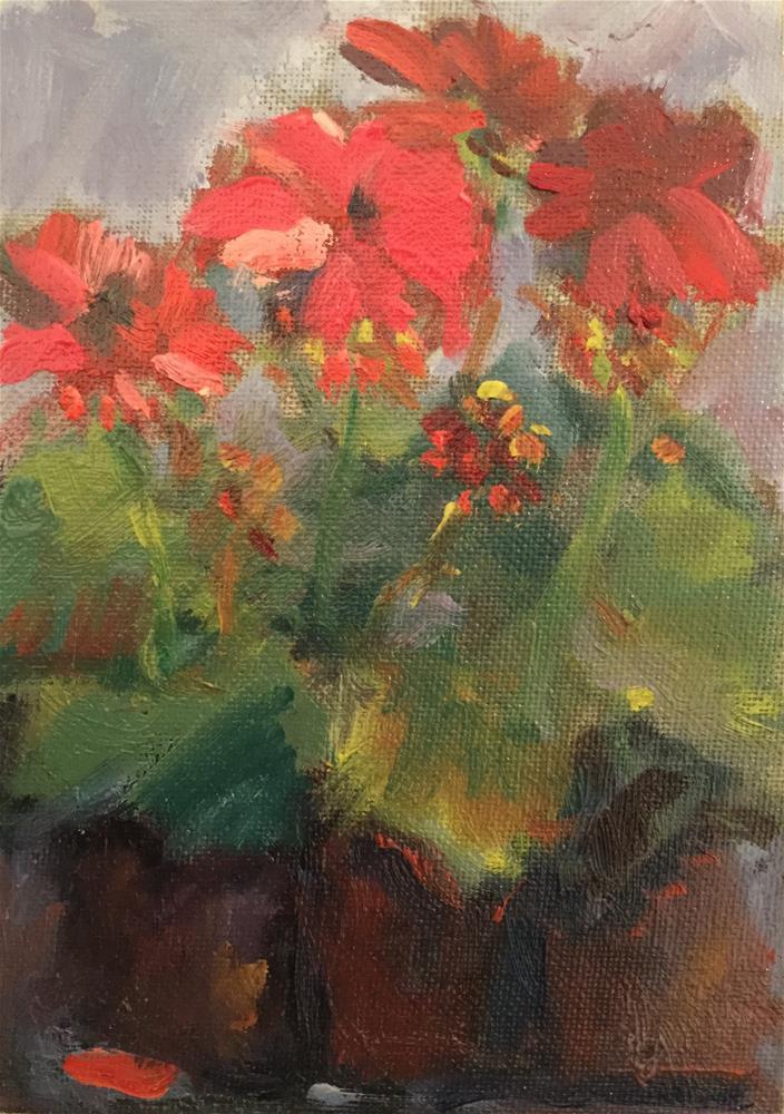 """""""Reds"""" original fine art by Barb Walker"""