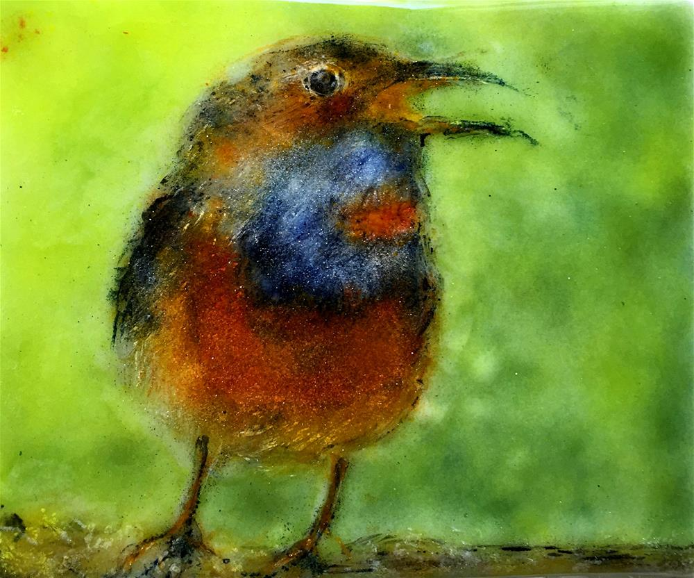 """Fine Feathered Friend"" original fine art by Kristen Dukat"