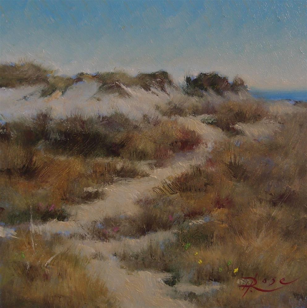 """Beach 4 jones beach"" original fine art by Howard Rose"