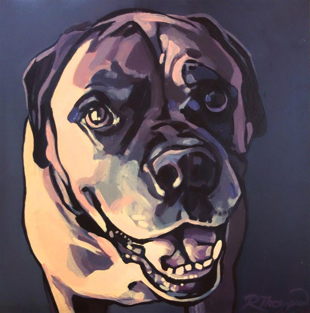 """Brutus"" original fine art by Rachel Thompson"
