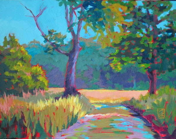 """Farm Lane, Lake City"" original fine art by Lucinda Howe"