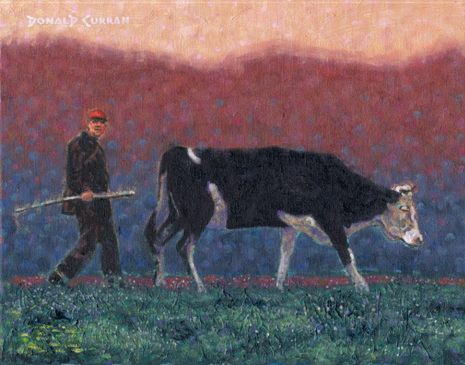 """MOOO!"" original fine art by Donald Curran"
