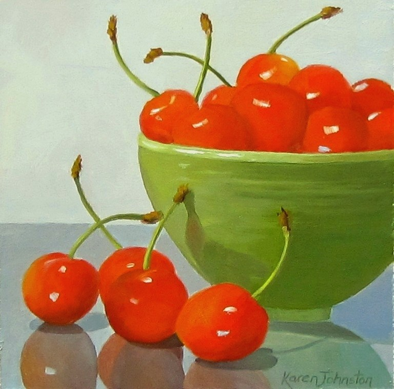 """Good Looking Cherries"" original fine art by Karen Johnston"