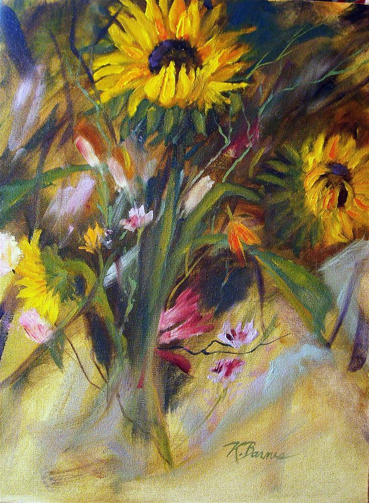 """Summer Sunflowers"" original fine art by Kathleen Barnes"