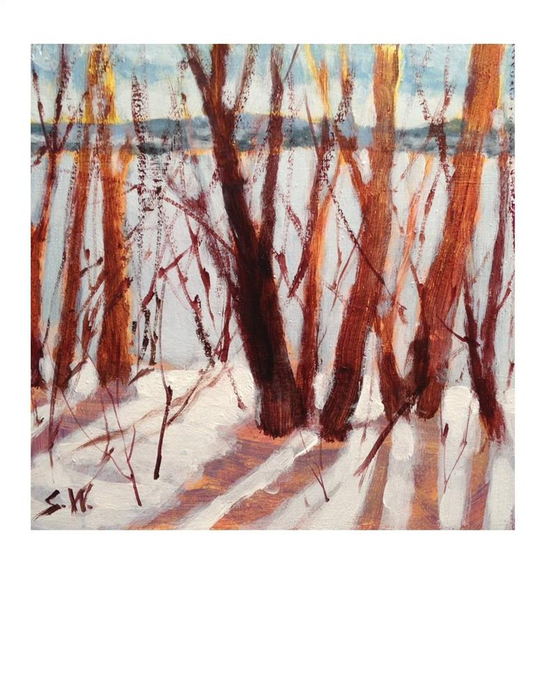 """Snow Scene Study"" original fine art by Suzanne Woodward"