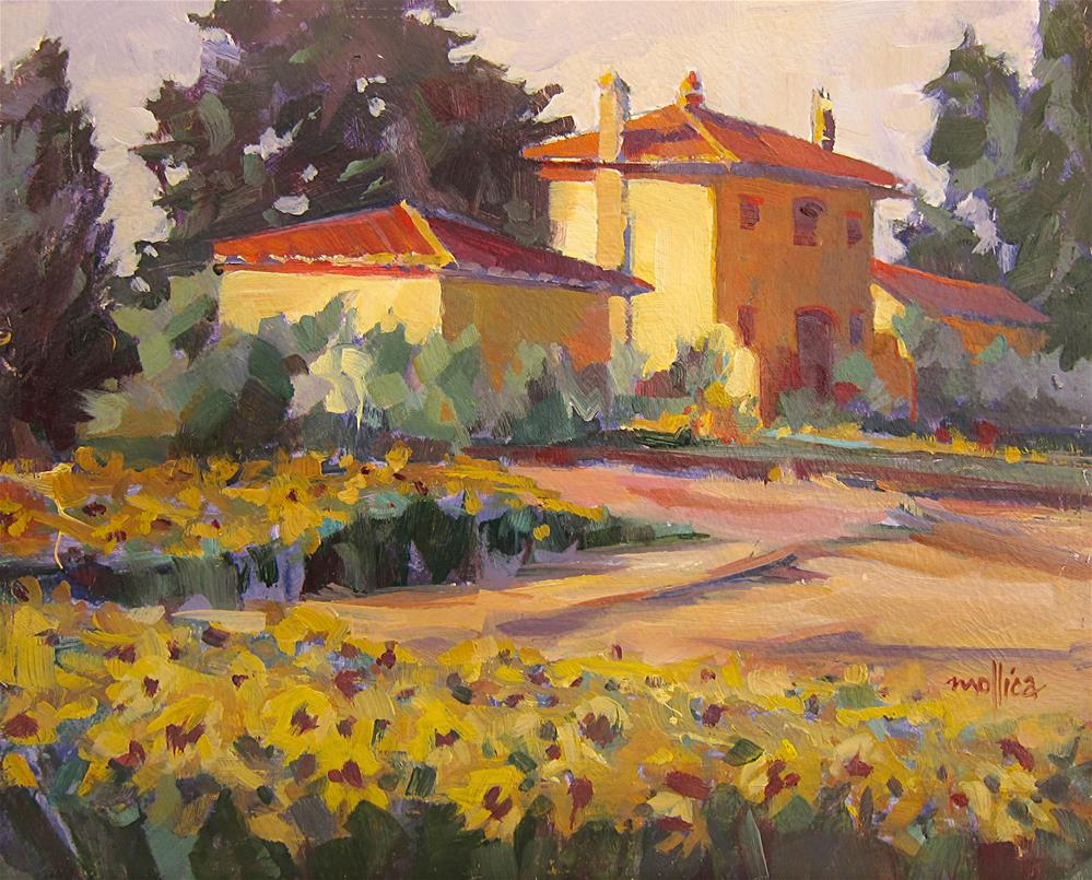 """Tuscany Sunflower Field"" original fine art by Patti Mollica"