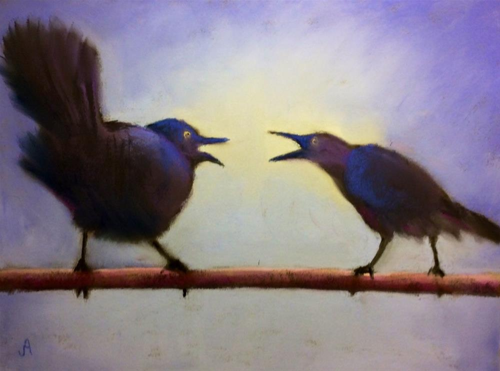 """""""All God's Critters Got a Place in the Choir"""" original fine art by Judy Albright"""