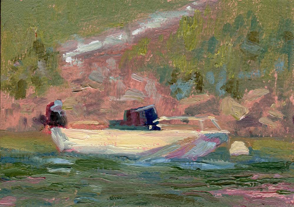 """""""Boat at Rest"""" original fine art by Karen E Lewis"""