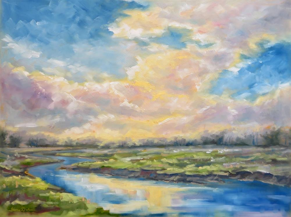 """Skies of Glory"" original fine art by Tammie Dickerson"