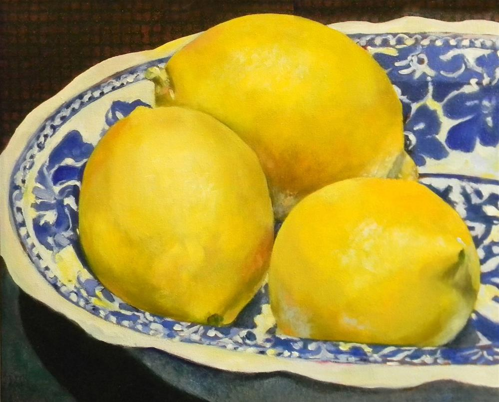 """3 Lemons"" original fine art by De Selby"