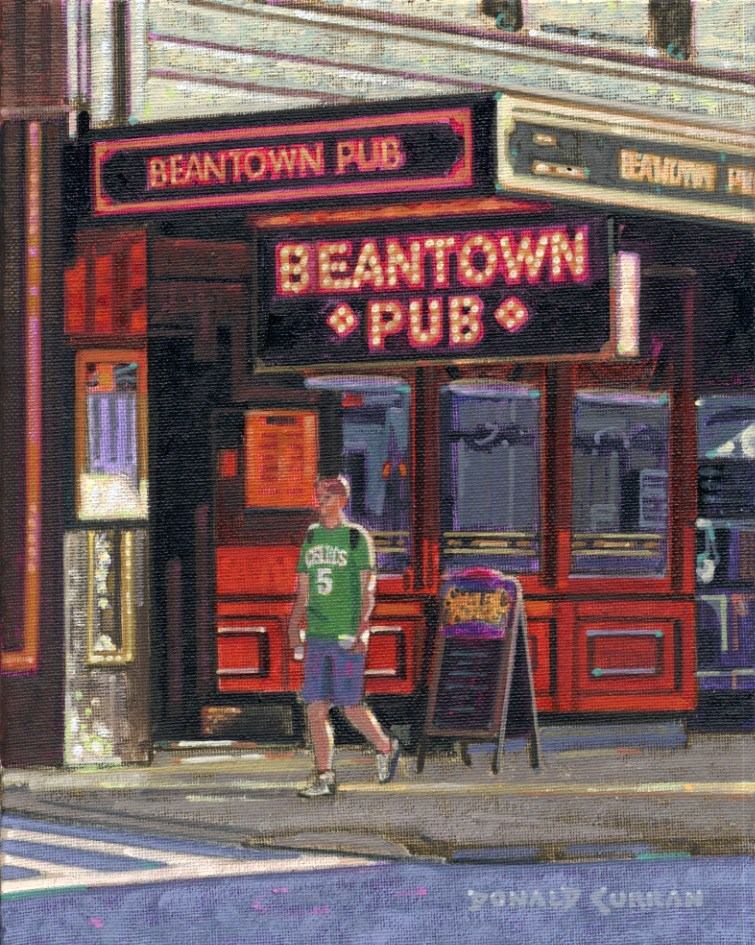 """Boston Pub"" original fine art by Donald Curran"