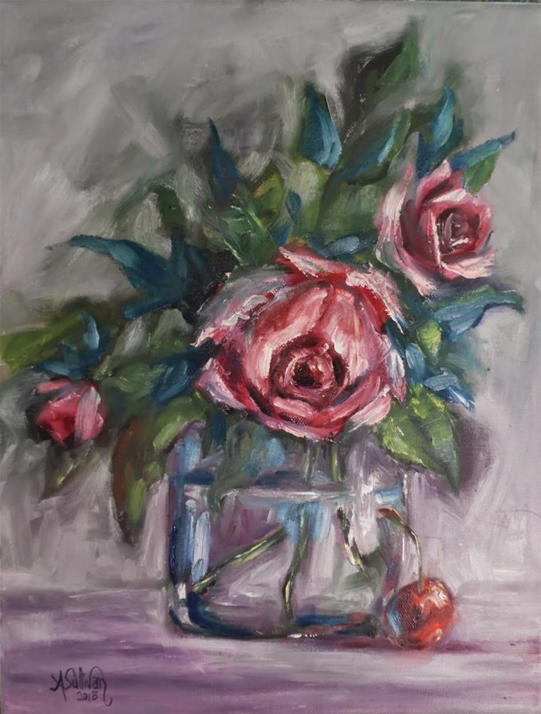 """And Then There Were Three still life floral by Alabama Artist Angela Sullivan"" original fine art by Angela Sullivan"