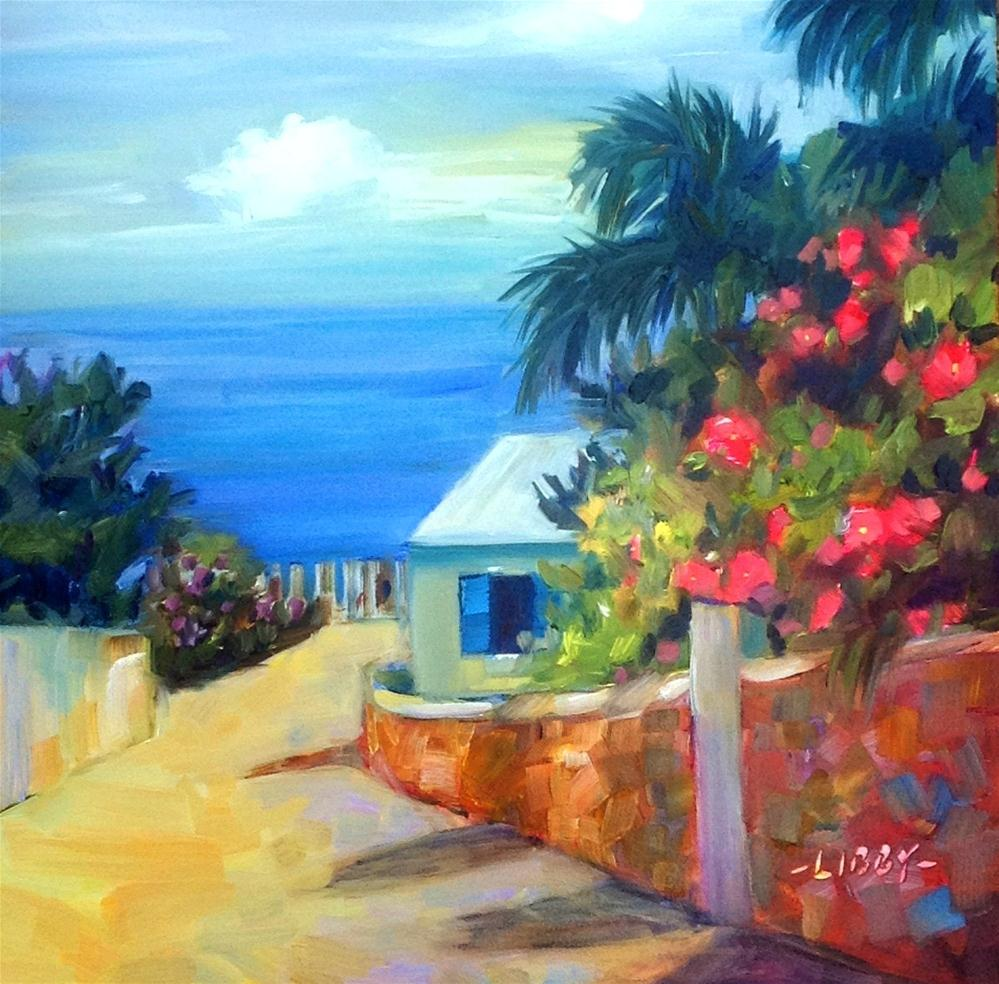 """Antigua Blue"" original fine art by Libby Anderson"