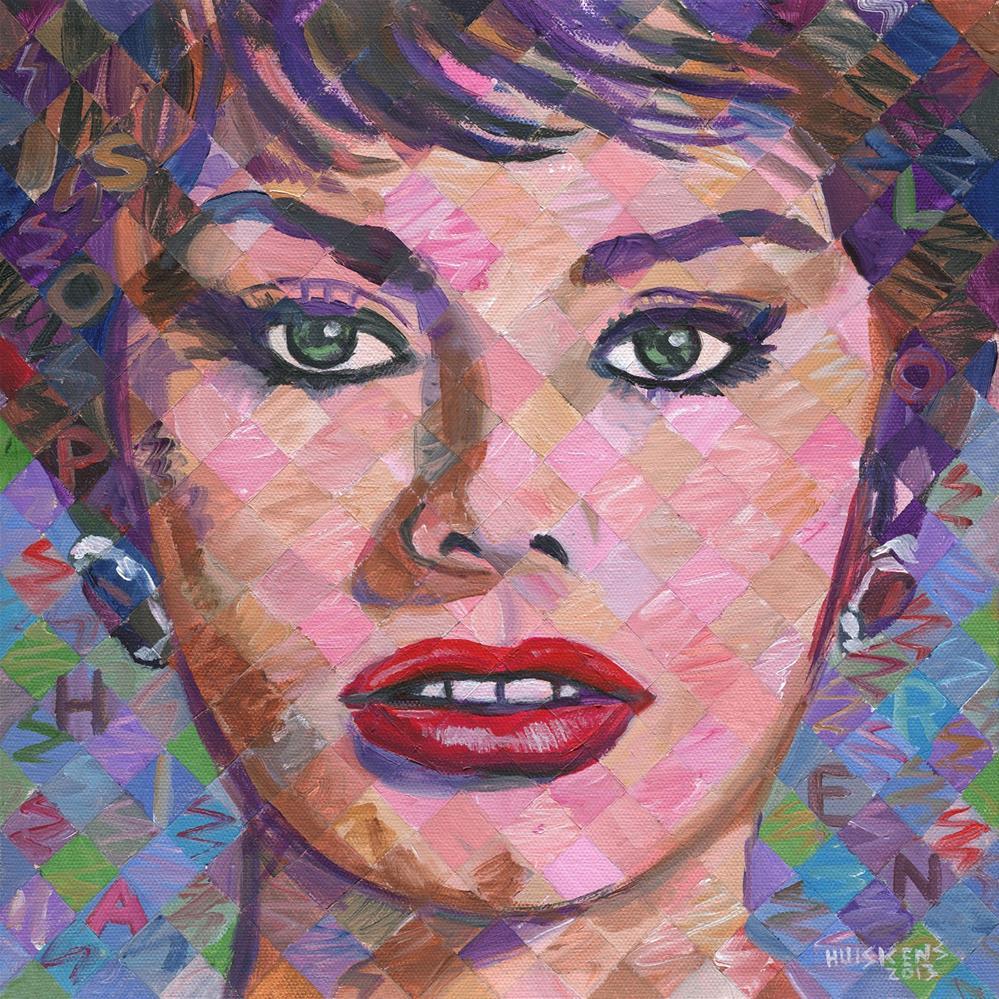 """""""Sophia Loren"""" original fine art by Randal Huiskens"""