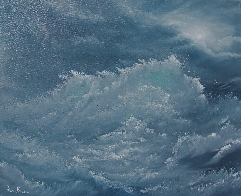 """Rough Seas"" original fine art by Ken Fraser"