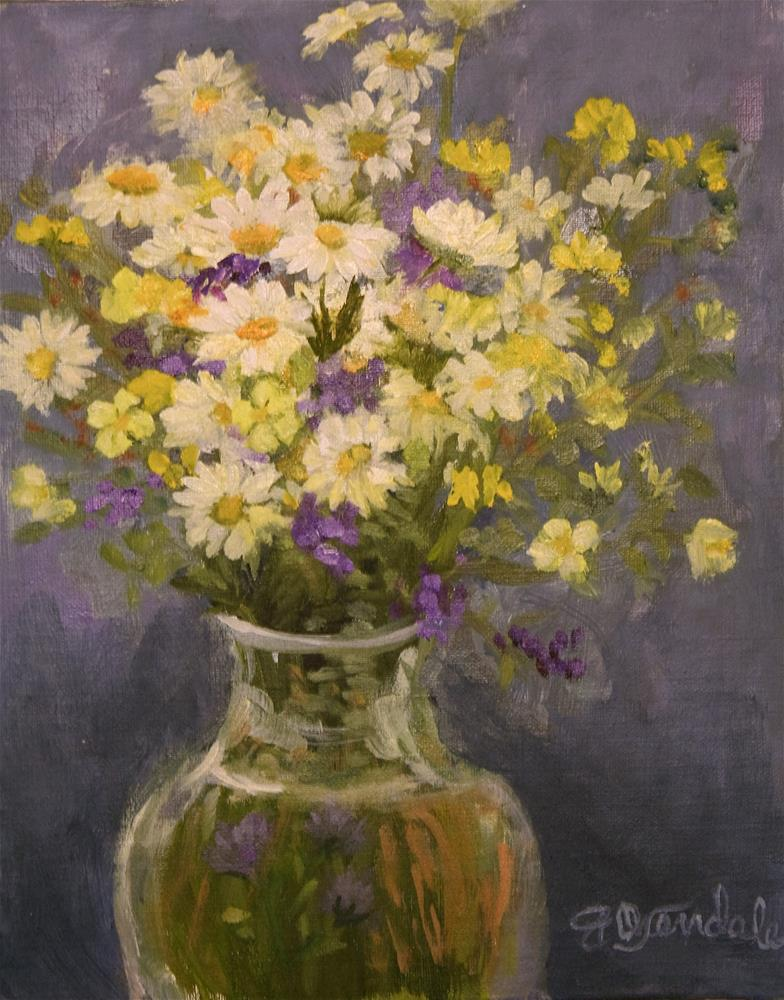 """Fresh Picked Daisies"" original fine art by Jan Oxendale"