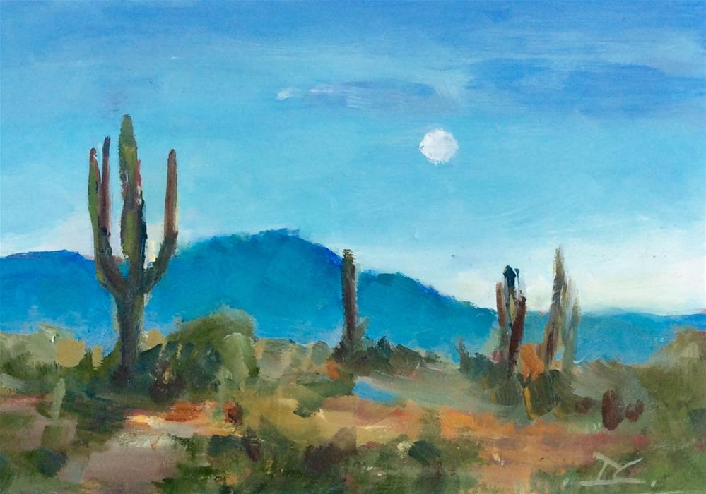 """ARIZONA BLUE"" original fine art by Doug Carter"