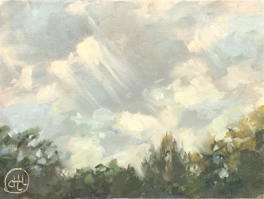 """above the treetops"" original fine art by Dottie  T  Leatherwood"