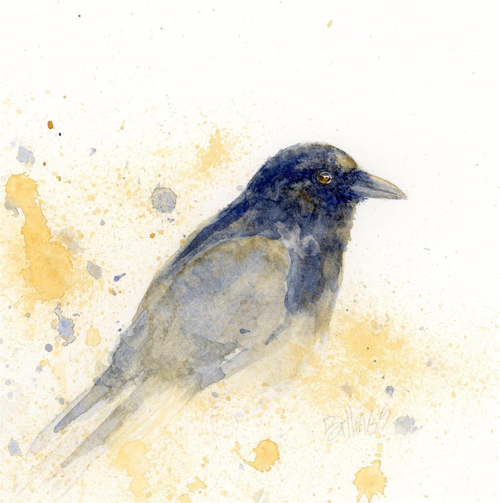 """Crow Study IV"" original fine art by Susanne Billings"