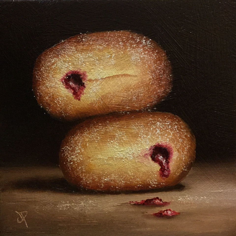 """Jelly Donuts"" original fine art by Jane Palmer"