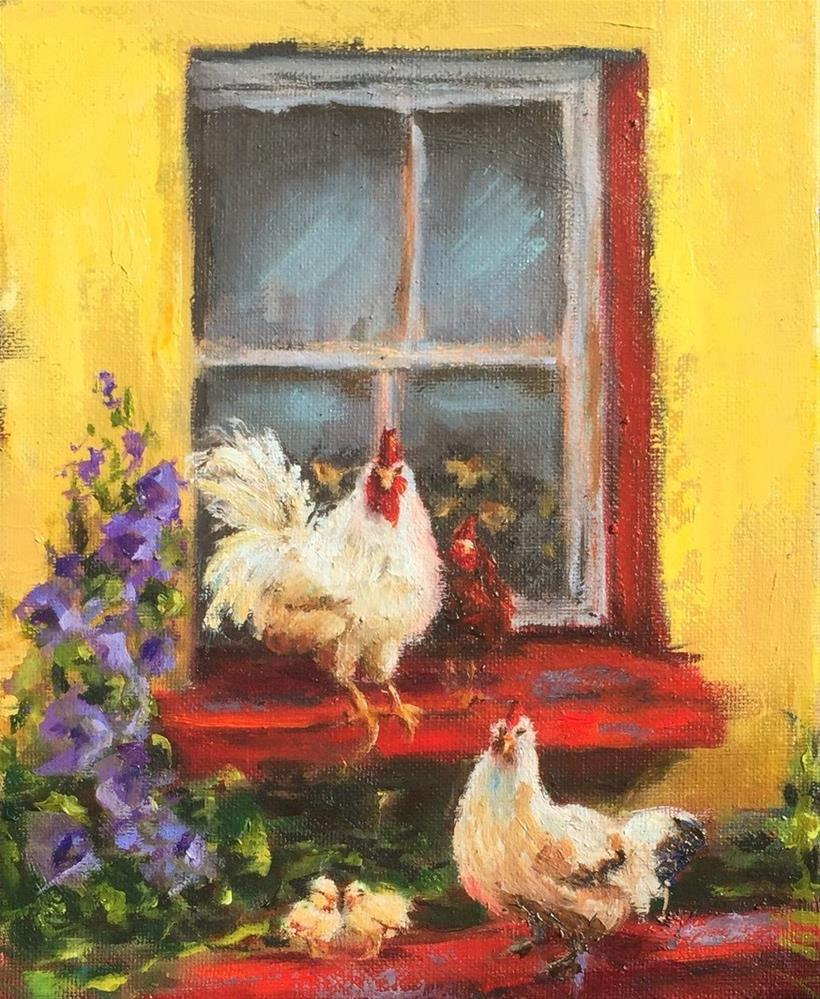 """Window Dressing"" original fine art by Susie Monzingo"