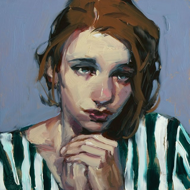 """Contrition"" original fine art by John Larriva"