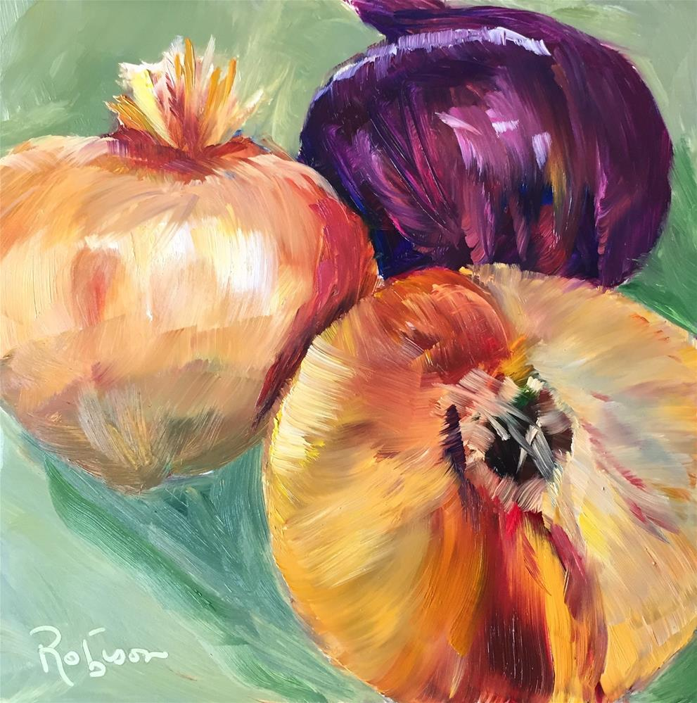 """Onion Drama"" original fine art by Renee Robison"
