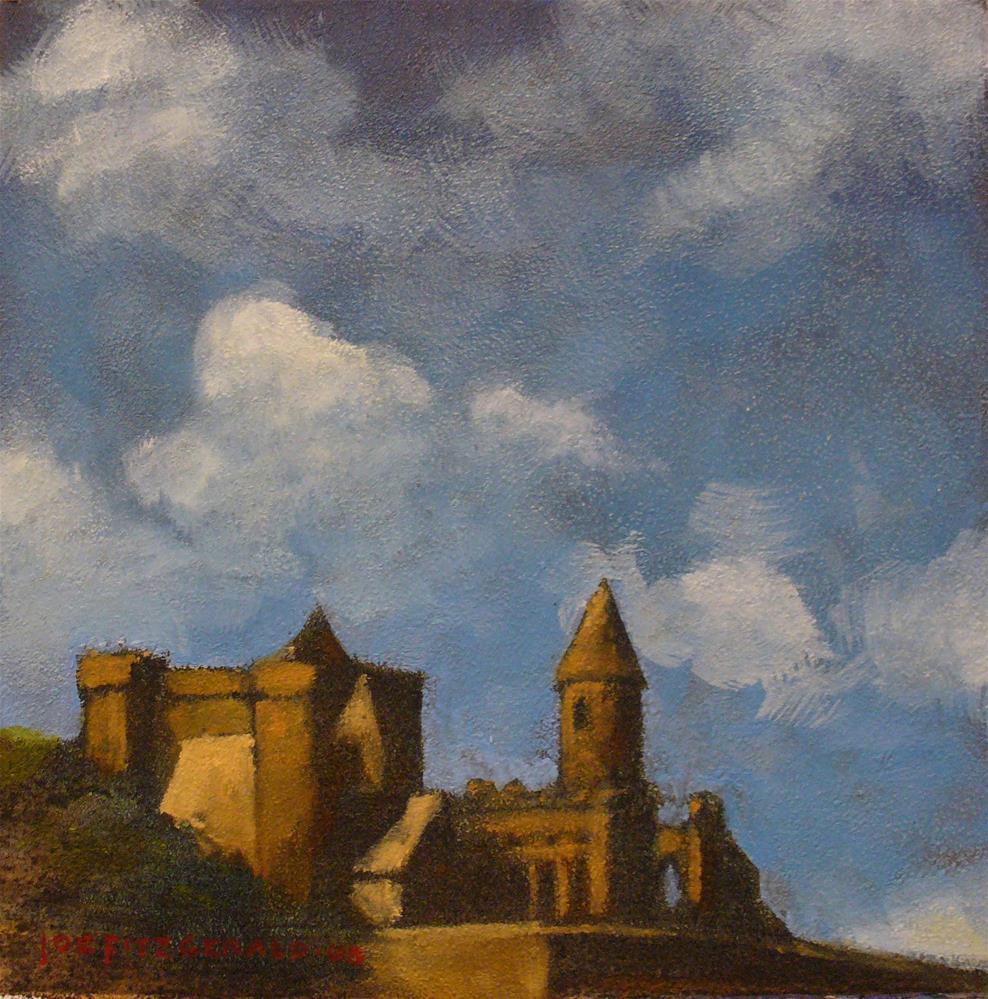 """Clouds Over Cashel"" original fine art by Joe Fitzgerald"