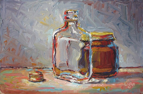 """Hennessey & Yeast"" original fine art by Raymond Logan"