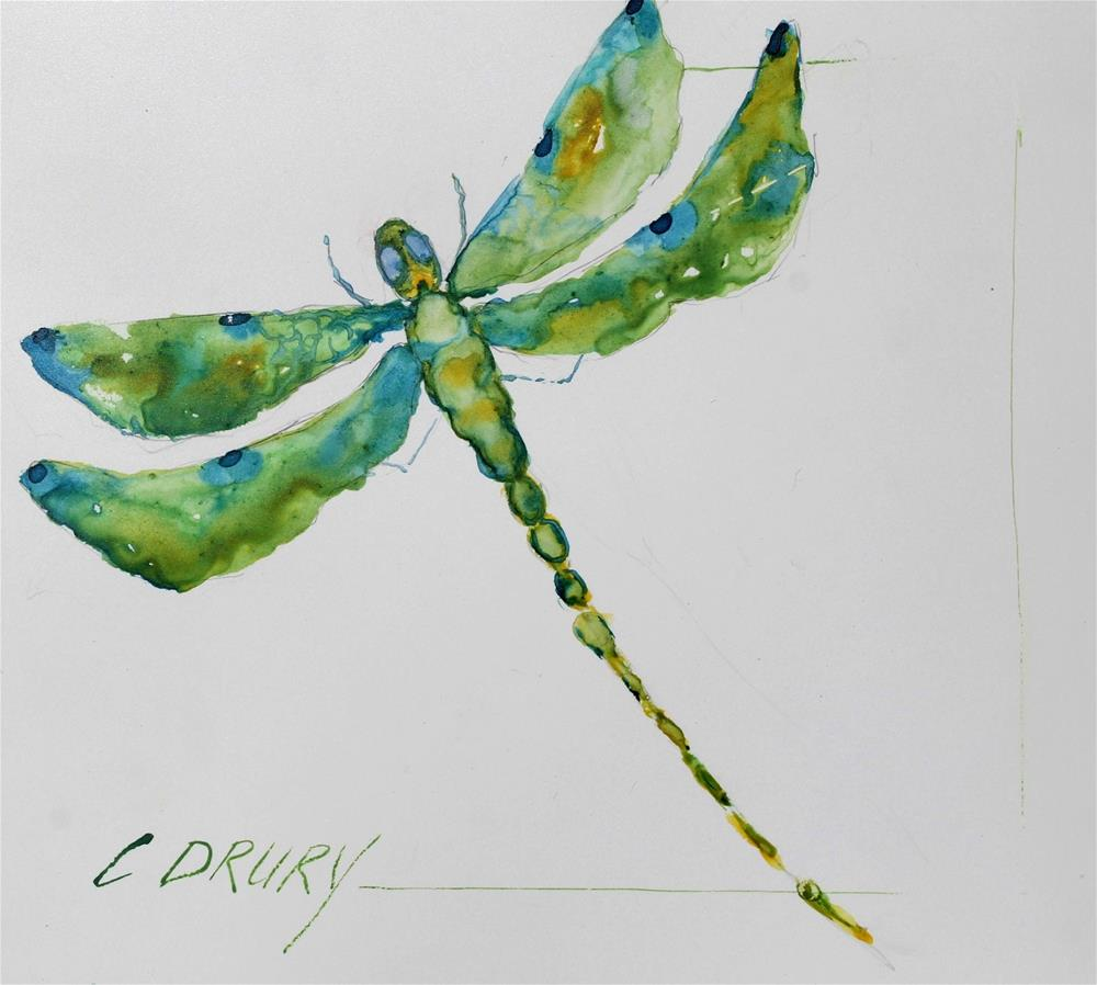 """Dragonfly"" original fine art by Colleen Drury"