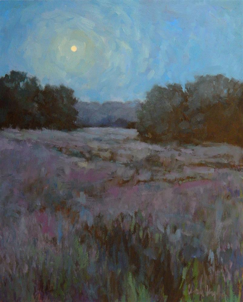 """By the Light of the Moon"" original fine art by Lisa Kyle"
