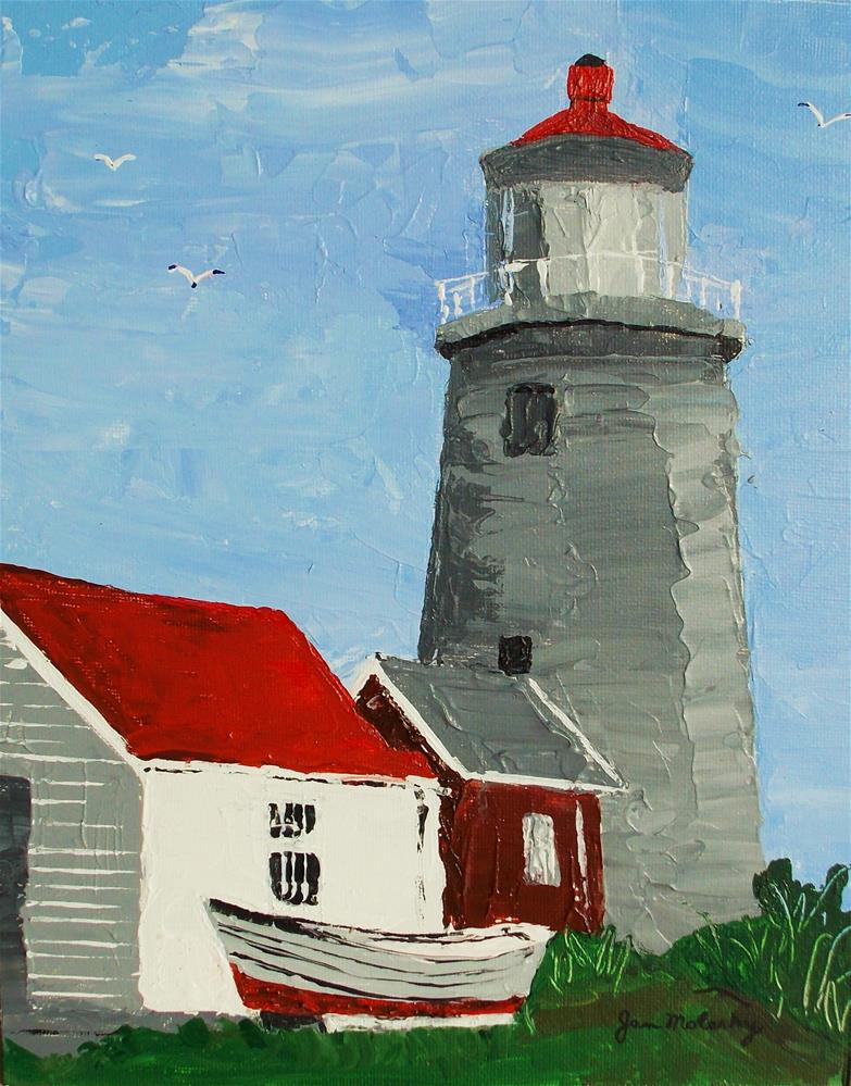 """Lighthouse on Monhegan"" original fine art by Jan Molesky"