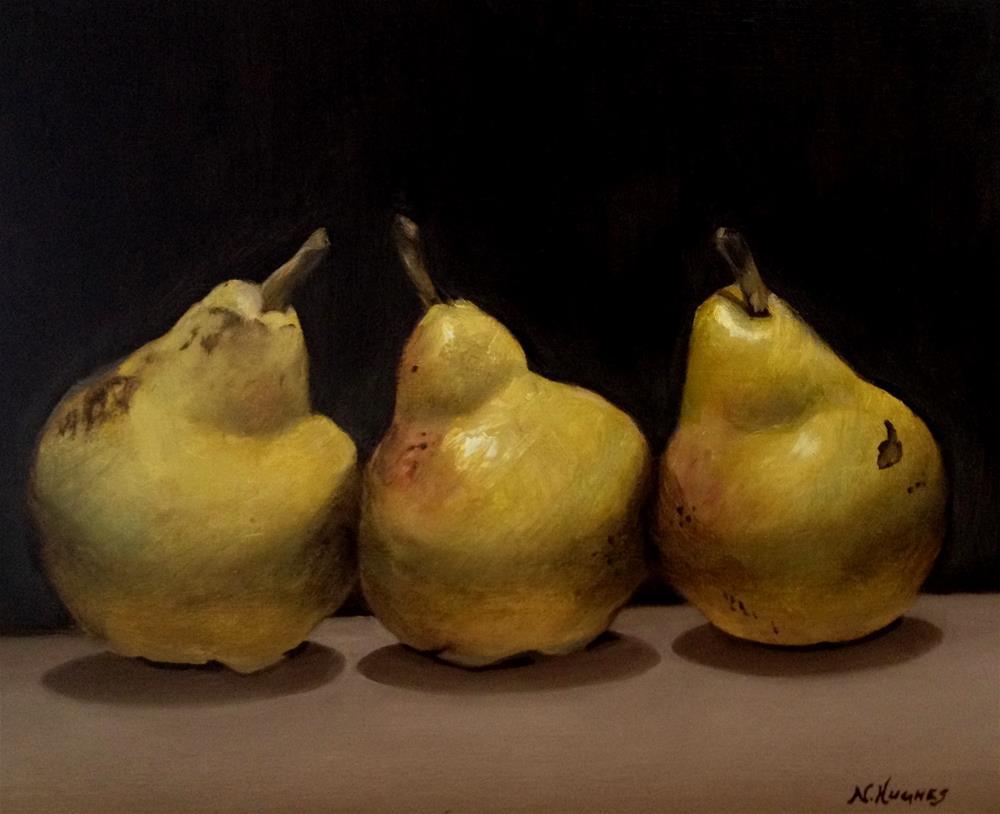 """Three Pears"" original fine art by Naomi Hughes"