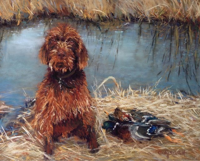 """Frozen Dog Day"" original fine art by Cindy Gillett"