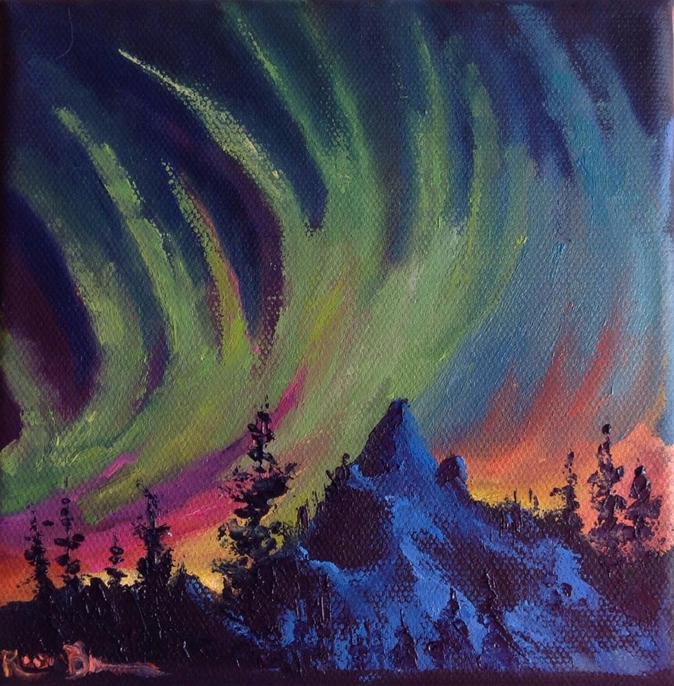 """Alaskan Sky"" original fine art by Rose Brenner"