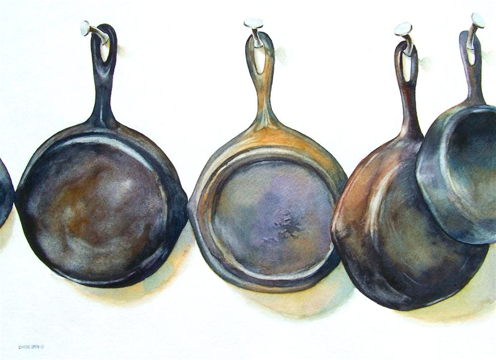 """"""" PANS WITHOUT POTS """" original fine art by Dwight Smith"""