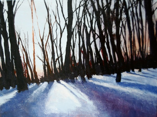 """WINTERS CHILL"" original fine art by Gerald Schwartz"