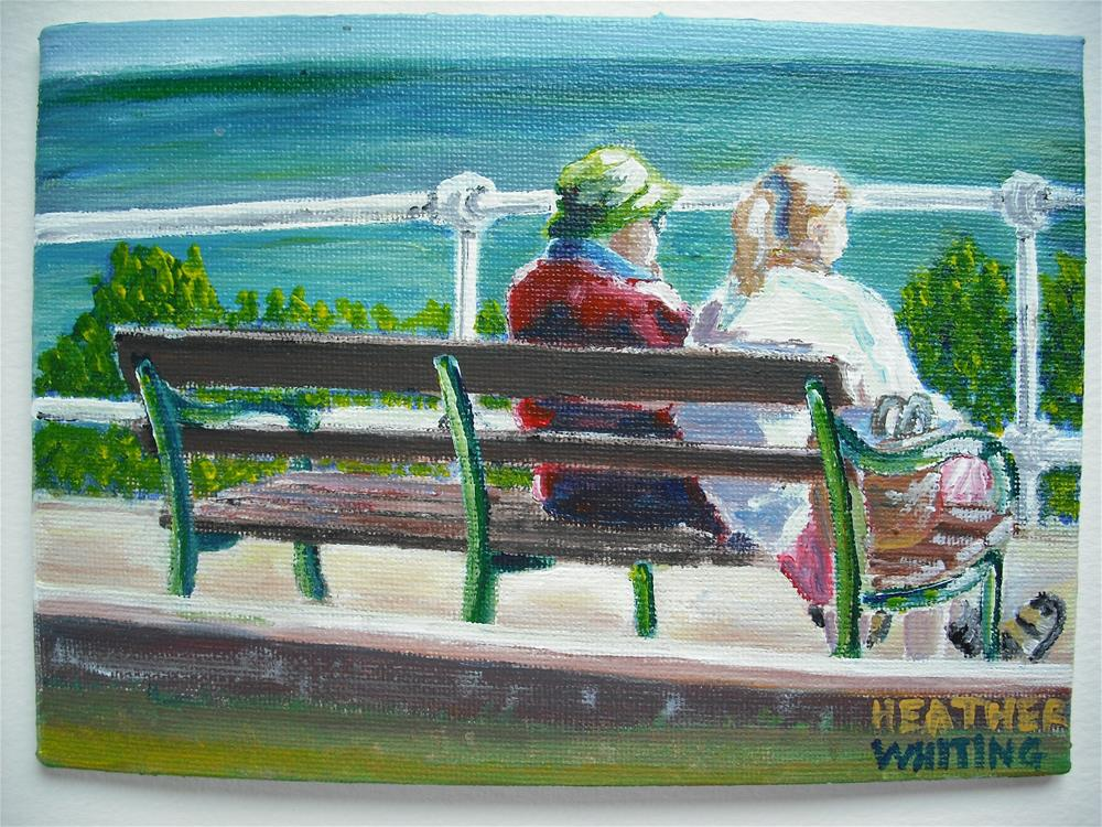 """Staring Out To Sea"" original fine art by Heather Whiting"